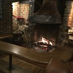 A roaring Fire in the Bar