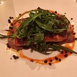 Mustard-Balsamic Glazed Skuna Bay Craft Raised Salmon Confit fingerling potatoes, haricot vert,