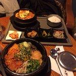 Kimchi Bibimbap and kimchi soup