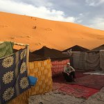 Bivouacs tent camp is in the dunes ... amazing ... and the bed was good too!
