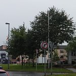 The Free Derry wall with the stone monument in front