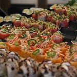 Sushi on Fridays at our International Lunch Buffet