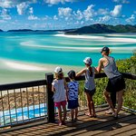 The awe inspiring lookout at Hill Inlet, Whitehaven Beach