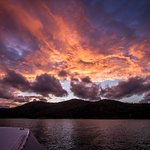 Just one of the many sunsets you'll see on your bareboat charter