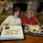 Chris and Spike celebrating 20 years with Hammond Cracker Barrel #369