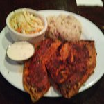 Blackened Tilapia with Mashed Potatoes and Cole Slaw