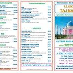 Taj Mahal La Roche Carte à Emporter
