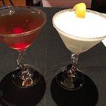 Manhattan and Lemon Drop Martini - excellent cocktails!