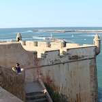 Rabat beach and fortress
