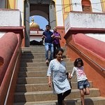 The steps to Omkareshwara temple
