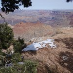 First view of the Grand Canyon on this tour. Snow in the foreground