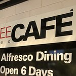 Alfresco dining...