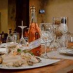 Vino Lambrusco y Spaguetti frutti di mare (con marisco)