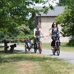 La voie verte, 13 km à travers la campagne à pieds, à vélo, en rollers...