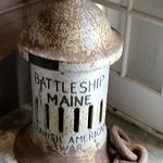 Artifact of the Battleship Maine I guess.