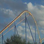 This shot of a Behemoth train cresting its lift hill is breathtaking!