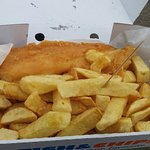 Delicious fish and chips!