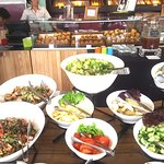 super range of salads - makes for a healthy and light brunch