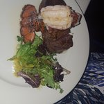 Surf and turf (two small tenderloin medallions)