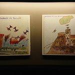 Dibujos de niños que sufrieron bombardeos.