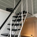 Stairs up to the duplex loft area