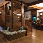 1st floor. Oak staircase to 2nd floor rooms.