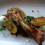 Delicious - the lamb shoulder is hidden under the lamb rack but equally delicious!