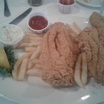 See those huge catfish fillets on that plate.