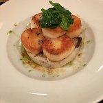 Seared scallops with Japanese risotto