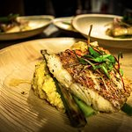 Grilled Red Snapper with Creamy Bacon Grits