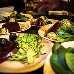 Local, Farm-to-Table Bibb Lettuce, Roasted Beets and Pistaschio Dusted Goat Cheese