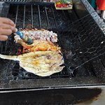 Basting our seafood