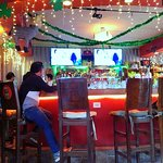 Very nice bar with TVs showing sporting events