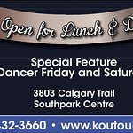 Now Open, Lunch and Dinner