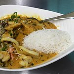 Our beautiful chef special samundari khazana (seafood curry) served on special occasions