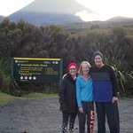 Easy walk to the Taranaki Falls to loosen those muscles after the Alpine Crossing.