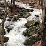 Waterfall on the drive near Wintergreen resort