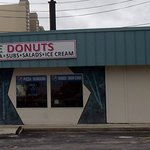 parking lot side of A'More Donuts