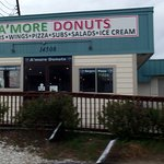 front of A'More Donuts