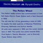Pelton wheel description board