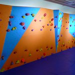 Climbing wall, located within reception centre