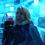 Having a blast at the Icebar in Stockholm!