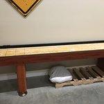 shuffleboard area