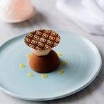Valhrona Manjari & bergamot chocolate bomb, Earl Grey sorbet