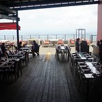 The stunning dinning and viewing deck of Top of Cebu restaurant