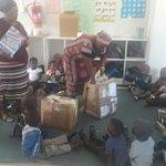 the parcels at the kindergarten