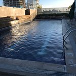 Rooftop pool, gets busy on weekends