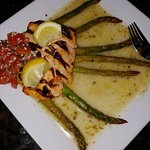 Grilled Salmon with Olive Oil and Lemon.... Delicious