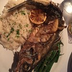 Fried, whole Bronzino