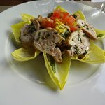 entree: salad with rabbit